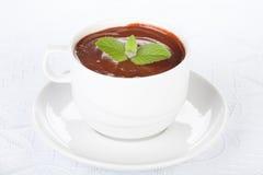 мята чашки шоколада горячая Стоковое Изображение