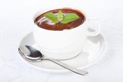 мята чашки шоколада горячая Стоковое Фото