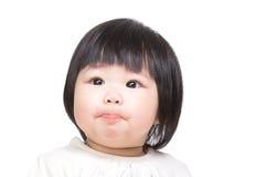 Младенец всасывая губы стоковое изображение rf
