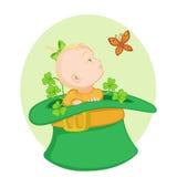 Младенец в ирландской шляпе Иллюстрация штока