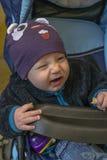 Младенец в экипаже стоковая фотография rf