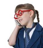 младенец говоря телефон Стоковое фото RF