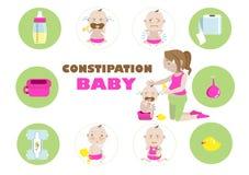 Младенец запора иллюстрация штока