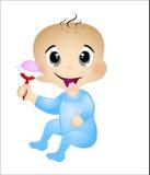 Младенец играя с его игрушками Стоковые Фотографии RF