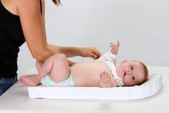 Младенец и женщина стоковое фото