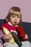 Младенец и природа Стоковое фото RF