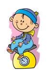 Младенец на масштабе стоковое изображение rf