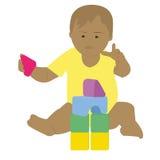 Младенец на работе Стоковое фото RF