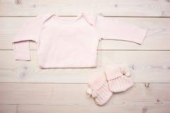 младенец одевает пинк Стоковая Фотография RF