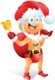 Младенец одетый как Санта Клаус Стоковые Фотографии RF