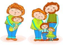 Младенец папы мамы Lumb newborn иллюстрация вектора
