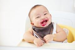 Младенец после поданный Стоковая Фотография