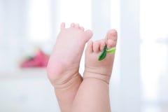 Младенец полон витальности маленьких ног Стоковые Изображения RF