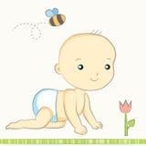 Младенец проползает Иллюстрация вектора