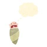младенец ретро шаржа плача Стоковое Изображение RF