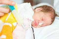 Младенец рожденный преждевремено стоковая фотография