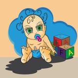 Младенец сидит Стоковая Фотография RF