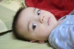 Младенец смотря крупный план Стоковые Изображения RF