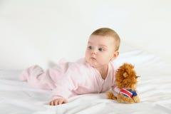 младенец счастливый немногая Стоковое Изображение