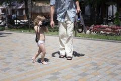 Младенец с камерой фото фотографирует Стоковые Фото