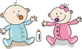 Младенец шаржа Стоковое Изображение
