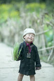 Младенец этнического меньшинства на деревне кулачка легкего Стоковые Фото