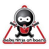 Младенец Ninja на борту иллюстрация штока