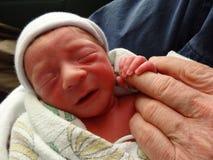 Младенческий ребёнок один час старый Стоковое Изображение RF