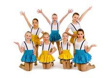 Младшая группа танца джаза девушек Стоковые Фото