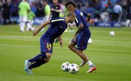 Младший Neymar и Ксавьер Mascherano FC Barcelone Стоковая Фотография
