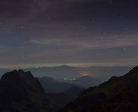 Млечный путь дальше над накидкой Malfatano Стоковые Фото