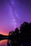 Млечный путь взрыва звезды Стоковое фото RF
