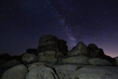 Млечный путь в национальном парке дерева Иешуа Стоковое фото RF