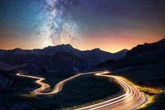 Млечный путь в французских Альпах Стоковые Изображения RF