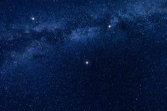 Млечный путь играет главные роли предпосылка Стоковые Фотографии RF