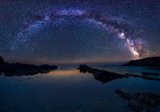Млечный путь и Perseids стоковое изображение rf