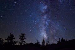 млечный путь на национальном парке yosemite Стоковое фото RF
