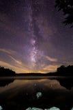 Млечный путь над озером цен Стоковое Изображение RF