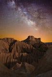 Млечный путь над пустыней Стоковое Изображение