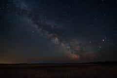 Млечный путь над степью Стоковые Изображения