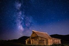 Млечный путь над строкой Morman Стоковые Изображения RF
