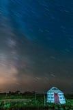 Млечный путь на grossland Стоковая Фотография RF