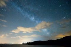Млечный путь от Kerkini в северной Греции стоковая фотография
