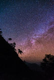 Млечный путь с горой Стоковое фото RF