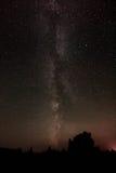 Млечный путь с заревом розы Стоковые Фотографии RF