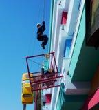 ?annequin che scala una parete dell'hotel in Clifton Hill, cascate del Niagara fotografia stock
