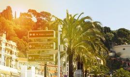 Набережная в славном, Франция, известный французский курорт, лазурное побережье, Стоковое фото RF