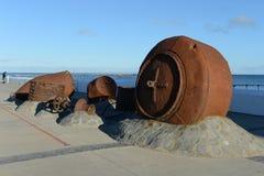 Набережная в чилийском городе арен Punta стоковое изображение