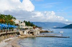 Набережная в Herceg Novi, Черногории Стоковые Изображения RF