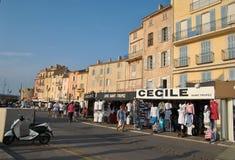 Набережная в St Tropez стоковое изображение